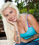 Pic of Stevie Shae in bigmouthfuls episode: Hello... Blondie Boom!