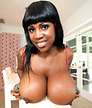 Pic of Maserati  in brownbunnies episode: Big black tits get cum on them