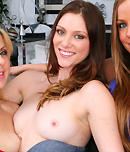Pic of Shae Snow in partyofthree episode: Three hot girls all try eating pussy and using toys together