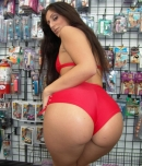 Pic of Luscious Lopez in remaster episode: Anal banging at the porn store