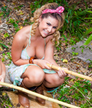 Pic of Rita Marie in powermunch episode: Redneck Pool Party!